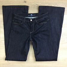 7 For All Mankind Ginger Wide Flare Women's Jeans Size 28 Fit W31 L34 (DD12)