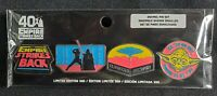Funko Star Wars 40th The Empire Strikes Back 4 Pin Set Target LE 500
