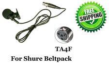 Lavalier Lapel Microphone TA4F 4 PINS XLR for Shure Beltpack L1 LX1 SC1 U1 SLX1