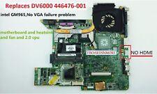 HP DV6000 intel GM965 motherboard 446477-001,replace 446476-001,No VGA problem.