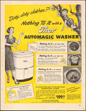 1949 Vintage ad for Thor Automatic Washer Retro appliance Price (082617)