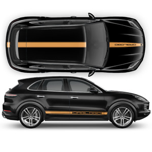 Racing Decals Set in One Color for Porsche Cayenne / Macan