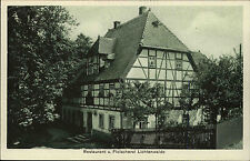 Lichtenwalde Frankenberg Sachsen ~1910 Restaurant Fleischerei Albert Kürschner