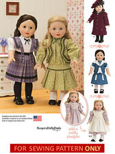 SEWING PATTERN! MAKE DOLL CLOTHES~EARLY 1900! FIT AMERICAN GIRL SAMANTHA~REBECCA