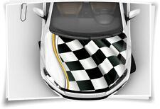 Renn-Flagge Karo Flagge Motor-Sport Motorhaube Auto-Aufkleber Folie Folierung