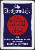 Playing Cards 1 Single Card Old Wide THE NORTHERN ECHO Newspaper Advertising Art