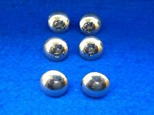 6 X QUEENS OWN ROYAL IRISH HUSSARS 17MM PLAIN DOMED MILITARY GOLD TUNIC BUTTONS