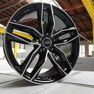 20 Zoll Damina DM05 Felgen 5x112 schwarz poliert für Audi RS5 RS6 RS7 SQ7 SQ5 Q8