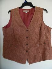 COLD WATER CREEK  VEST sleeveless jacket button front Sz 20