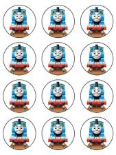 "12 THOMAS THE TANK ENGINE KOPYKAKE 2"" CUPCAKE EDIBLE ICING IMAGE CAKE TOPPERS #1"