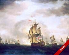 BATTLE OF CAPE ST VINCENT BRITISH NAVY HISTORY PAINTING ART REAL CANVAS PRINT