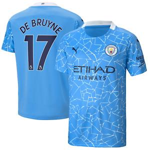 Manchester City Football Shirt Kids Puma Home Shirt - De Bruyne 17 - New