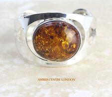 Baltic Elegant Amber Bangle Handmade 925 solid silver - BAN019 - RRP £450!!!