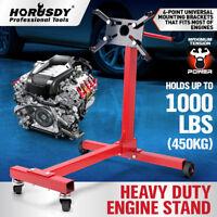 450kg / 1000lb Engine Stand Cars Auto Motor Crane Industrial Workshop Move Hoist