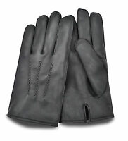 REAL SOFT LEATHER WINTER DRIVING GLOVES WOMEN'S CHAUFFEUR STYLE PRIMUM QUALITY