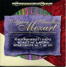 CD - Wolfgang Amadeus Mozart – Streichquartett No. 8 – Divertimento No. 7