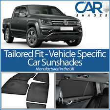 VW Amarok 2010 On UV CAR SHADES WINDOW BLINDS PRIVACY GLASS TINT BLACK SPORT