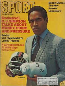 October 1969 Sport Magazine O J Simpson Willie Mays Jim Palmer HOF Bobby Murcer