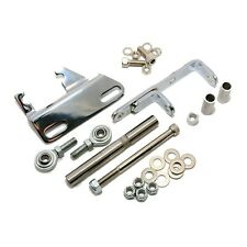 Air Compressor Brackets Chrome Steel SBC Small Block Chevy Header Sanden 508 A/C