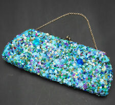 K.C.Malhan Blue and Green Sequins Small Purse