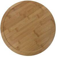 31cm Round Bamboo Wooden Steak Board Serving Plate Board Chopping Board