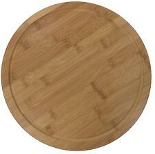 31cm Rond Bambou en Bois Table Board Portion Plaque Board Planche à Découper