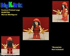 ELEKTRA Custom Printed & Inspired LEGO Marvel Minifigure with 2 SAI Blades