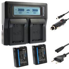 2x batería para Sony np-fw50 + dual cargador Charger para Sony np-fw50 | 65221 | 90336