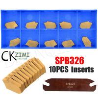 SPB26-3 26mm Parting Grooving Cut-Off Tool Holder + 10pcs GTN-3 SP300 Inserts