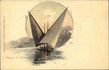 Schiffe ~1900 Schweiz Binnenschiff Barque Segelschiff Ship Lac Léman Genfersee