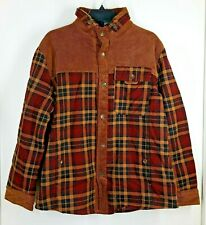 Fashion Military Supplies Series Men's Jacket Plaid/Corduroy Fleece Lined 56 Cht
