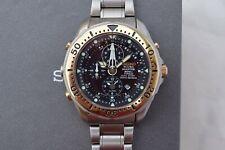 Serviced Seiko ScubaMaster Titanium Dive Watch 7K52 Depth Sensor SBCP001 1995