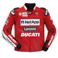 Ducati Team 19 Motorbike Racing Leather Jacket