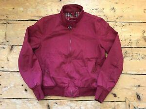 "Merc London Burgundy Harrington Jacket With Tartan Lining - Size mEDIUM (38"")"