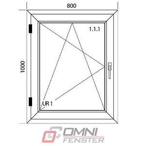 Kunststofffenster nach Maß PVC-Fenster 800 x 1000 mm optional mit Rolladen Polen