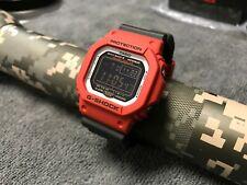 NEW Casio G-Shock GW-M5610RB-4 Multi Band 6 Radio Tough Solar Red Black GW-M5610
