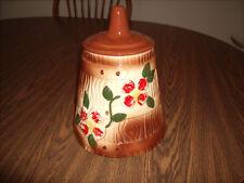 Cookie Jar Vintage American Bisque Brown with Floral Design