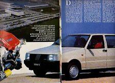 Z28 Ritaglio Clipping 1985 nuova gamma Fiat Uno motore Fire 1000