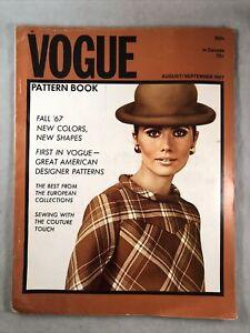 Vintage Vogue Pattern Book August/September 1967 Couture Designer Shapes Colors