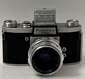Vintage German Praktica FX 3 Film Camera/ Case. Westagan 1:2/ 50 ISCO Gottingen