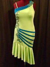 Je Bling Ballroom Competition Latin Rhythm Costume US size 10-14 Swarovski
