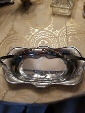 New listing Vintage Chrome Bread Basket, New York, with cut outs, 13 inches long