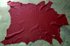 Red  leather goat hide goatskin 9.2 sq. ft. for bookbinding & other crafts G52