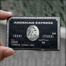 American Express Black Centurion Card AMEX METAL Customize Personalize Gift 08B