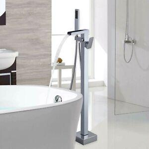 Zoe Collection Bath Mixer Modern Waterfall Freestanding Bathroom Tub Filler