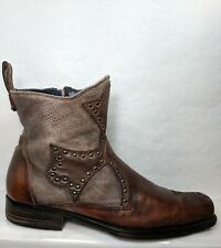 Mark Nason Rock Lives Dragon Cross Ankle Boots Men US 9.5 Made In Italy