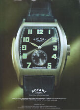 "Rotary ""Tonneau Watch"" 2007 Magazine Advert #2774"