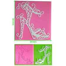 Stiletto High Heel Shoe Lace Silicone Mould by Fairie Blessings