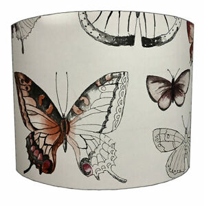 Butterfly Lampshades Ideal To Match Butterfly Wallpaper & Butterfly Duvet Covers