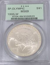 1995 W Special Olympic $1 Silver Dollar PCGS MS69 Rare West Point Coin 3336523